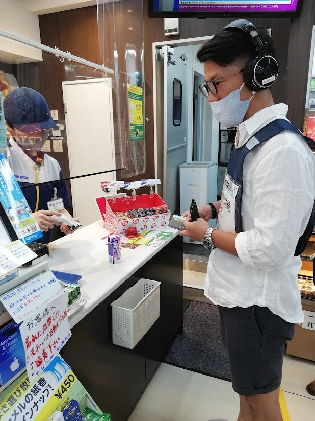 Purchase products at convenience stores